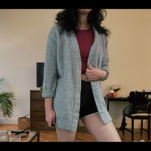 soft gray sweater